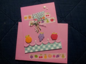 This lovely card was made using the adorable Fruit Stand collection also by Doodlebug Design!