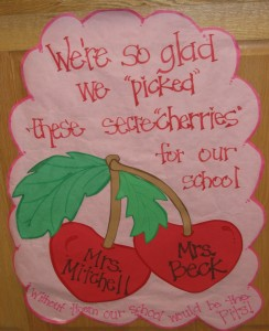 "We're so glad we ""picked"" these Secra""cherries"" for our school!! Without them our school would be the ""Pits""!"