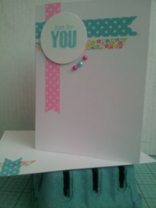 Simple card made with washi tape and mini pearls!!