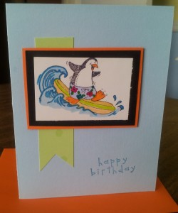 Penguin card made with an old Stampin Up! set called Penguin Paradise!