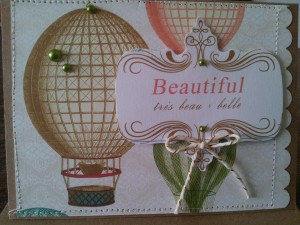 "Card made with papers from Webster's Pages ""Postcards from Paris"" collection!!"