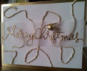 A touch of gold for Christmas with a little jingle!!