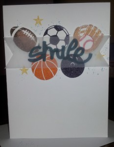 Perfect card for any lover of sports - old or young!!
