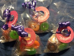4 cello bags filled with lifesavor candies!!
