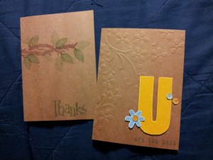 These two cards are my entries into the Paper Crafting Challenge # 15 - Get KRAFTY