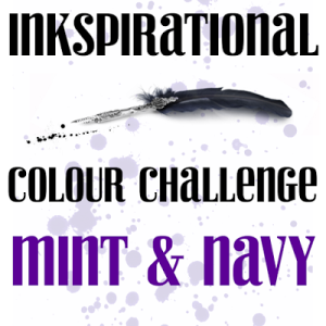 Inkspirational Colour Challenge Mint and Navy